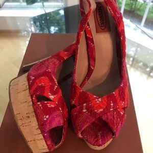 missoni Shoes - New Missoni zigzag red coral cork sandal 37.5 7